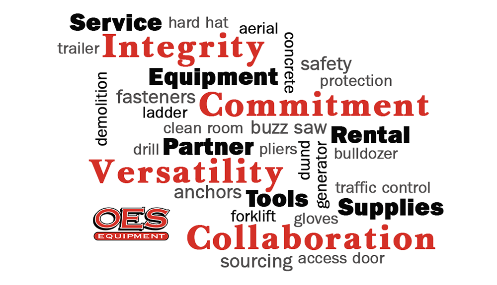 OES core values: Commitment, Integrity, Versatility, Collaboration