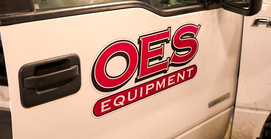 OES Equipment truck door